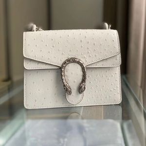 Gucci Dionysus Mini Bag White Leather Bag